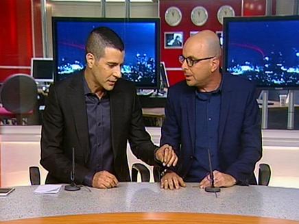 אלדד יניב ושרון גל (צילום: חדשות 2)