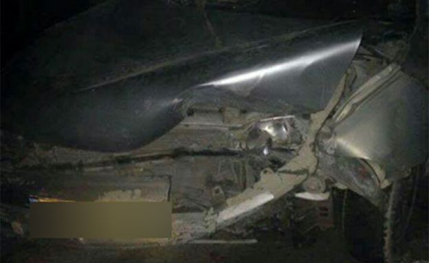 הרכב שעמו בוצעה הדריסה, הלילה (צילום: חדשות 2)
