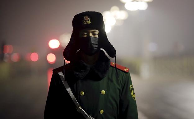 זיהום אוויר בסין (צילום: חדשות 2)