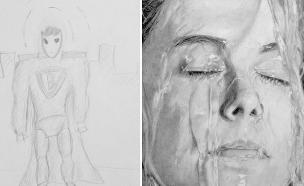 ציורים לפני ואחרי (צילום: boredpanda, מעריב לנוער)