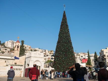 נצרת עץ חג מולד כיכר המעיין