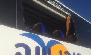 האוטובוס שנרגם באבנים, היום (צילום: חדשות 2)