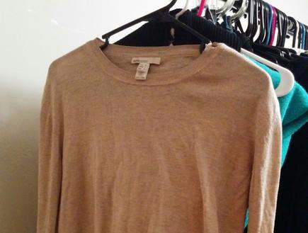 סוודר לפני (צילום: נועה יחיאלי)
