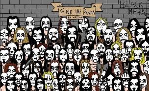 מצאו את הפנדה מטאל (צילום: Dark Asylum Radio)