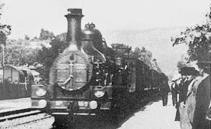 """מתוך """"רכבת נכנסת לתחנה"""" של האחים לומייר (צילום: יוטיוב )"""