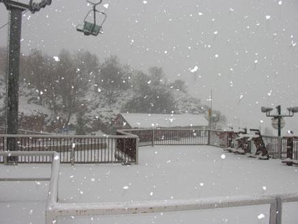 שלג צפוי בהרי הצפון (צילום: אתר החרמון)