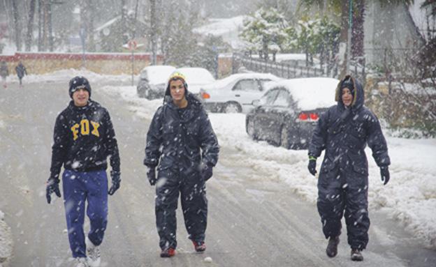 השלג יחזור לצפת (צילום: פלאש 90)