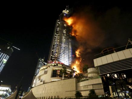 שידור ישיר מהשריפה בדובאי