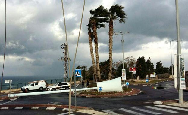 קריסה בחיפה (צילום: חברת החשמל)