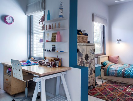 סטודיו 37, חדר המתבגרת שסרגה את הערסל, השטיח והפוף בחדרה