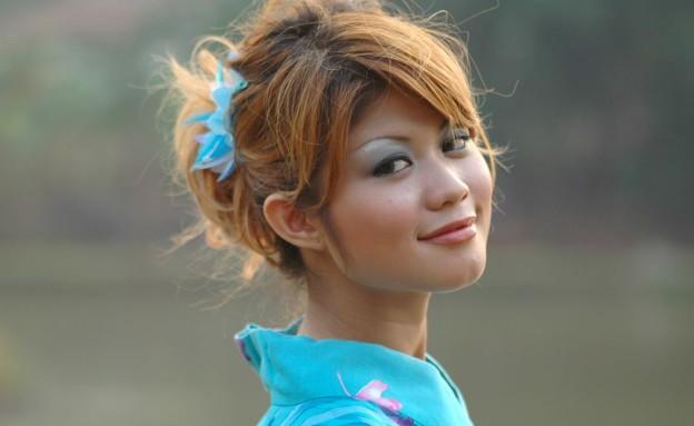 אישה יפנית בקימונו (צילום: flickr.com, flicker)