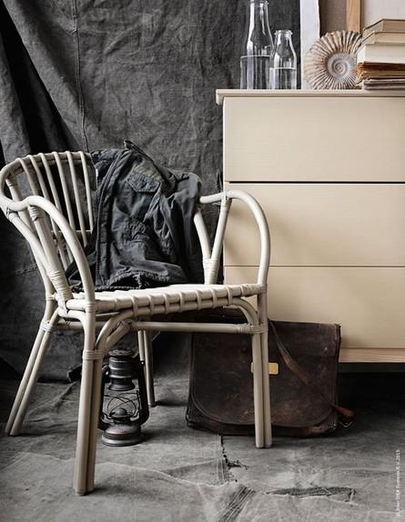 כסא רטאן אפור בהיר (צילום: IKEA)