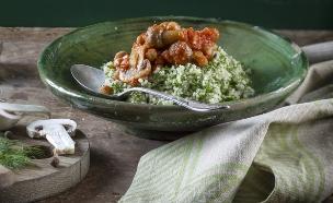 תבשיל פטריות וקוסקוס (צילום: אנטולי מיכאלו, אוכל טוב)