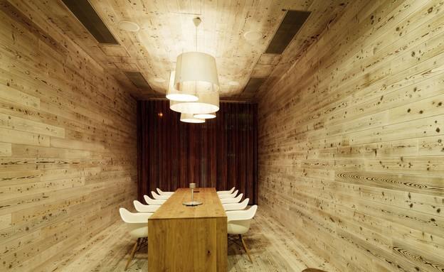 חדר אוכל מעץ (צילום: מתוך innocad)
