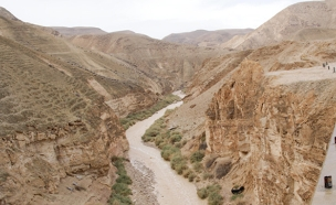 הצפות במדבר יהודה (צילום: פלאש 90)