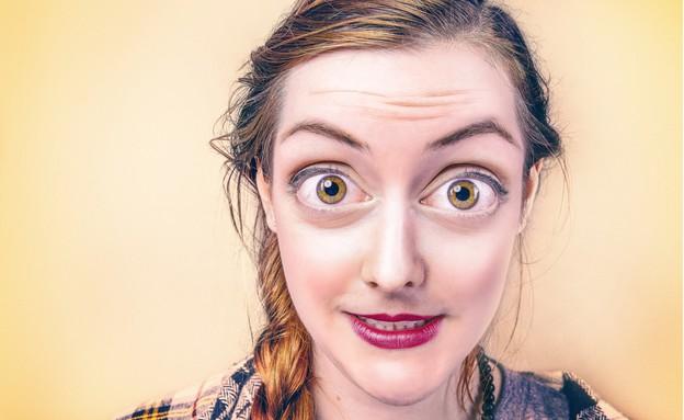 אישה פעורות עיניים (צילום: Gratisography)