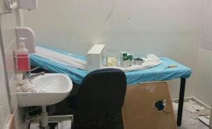 הנזק הרב שנגרם בבית החולים (צילום: דוברות אסף הרופא)