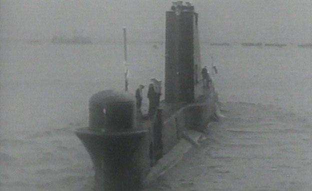 """הצוללת אח""""י דקר, ארכיון (צילום: ארכיון המדינה)"""