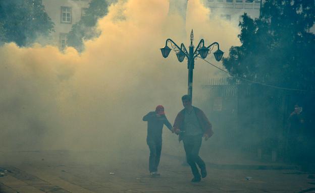 הפגנות באיסטנבול בעקבות האסון במכרה (צילום: רויטרס)