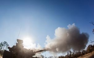 """חיל התותחנים בפעולה (צילום: דובר צה""""ל, באדיבות גרעיני החיילים)"""
