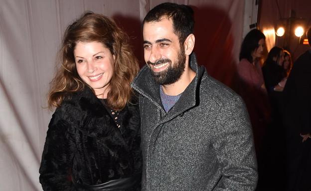אסי ישראלוף ואשתו (צילום: אביב חופי)