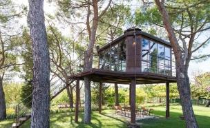 בית זכוכית באיטליה (צילום: Airbnb)