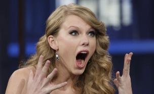 טיילור סוויפט מופתעת (צילום: צילום מסך, מעריב לנוער)