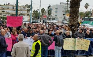 הפגנת העובדים, השבוע (צילום: חדשות 2)