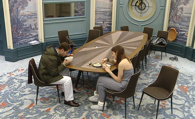 שי חי ותניה אוכלים (צילום: מתוך האח הגדול 7, שידורי קשת)