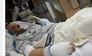 ג'סטין סמית בבית החולים (צילום: Lehigh Valley Health Network)