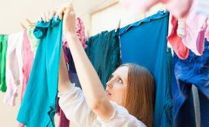 תלייה על חבל כביסה (צילום: Shutterstock)
