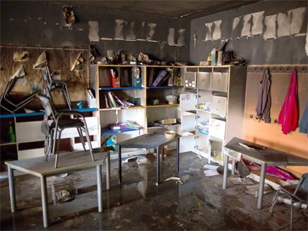 נזק כבד נגרם לבית הספר