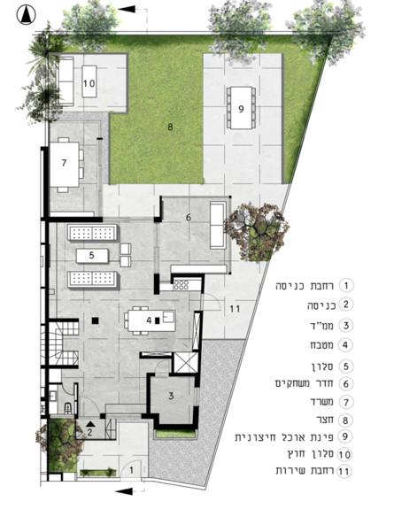 קומת הקרקע, תכנון: לילך גורפונג אדריכלים