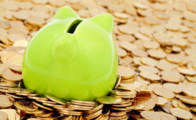 קופת חיסכון על מטבעות כסף (אילוסטרציה: Shutterstock)
