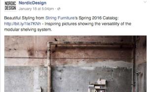 פייסבוק להשראה עיצוב נורדי (צילום: מתוך nordic design. צילום מסך)