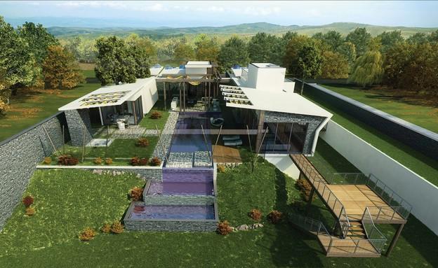 בית בעיצובו של עודד חלף (צילום: הדמייה evolve media)