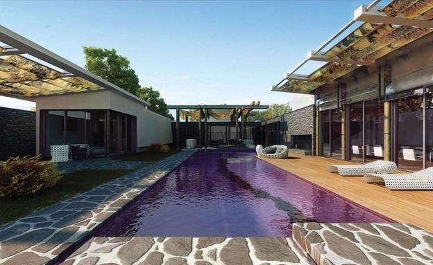 בית בעיצובו של עודד חלף (צילום: הדמייה evolve medi)