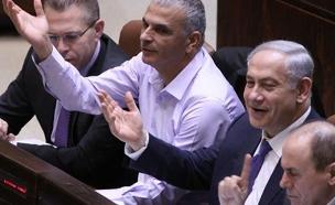 השמחה עם אישור התקציב (צילום: עמוד הפייסבוק של הכנסת)