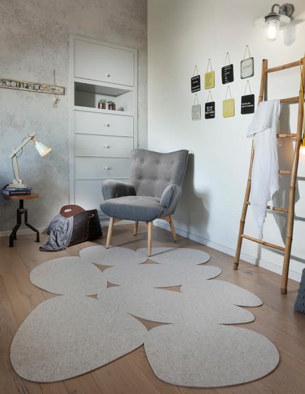 שטיח של תמר ניקס (צילום: אלעד גונן, עיצוב פנים מיכל מטלון)
