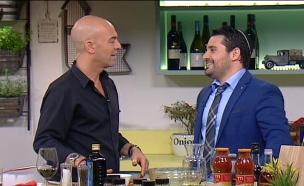 גד אלבז מתארח בתוכנית פבלו, אוכל וחברים (צילום: מתוך פבלו, אוכל וחברים, ערוץ 24)