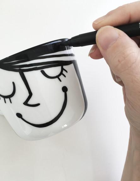 ציור על כוס