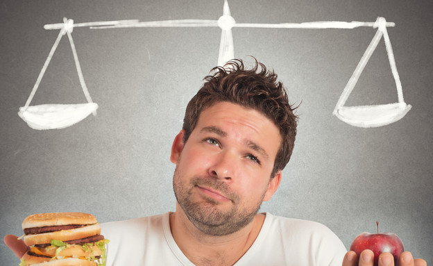 גבר בדיאטה (צילום: alphaspirit, Shutterstock)