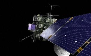 החללית רוזטה והגשושית (צילום: רויטרס)