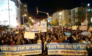 הפגנה נגד מתווה הגז, ארכיון (צילום: חדשות 2)