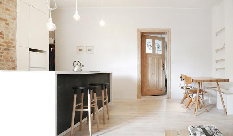 דירה לשימור בברלין, מטבח (צילום: Diane Adam - dianaadam.net)