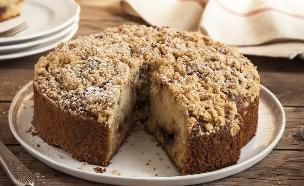 עוגת וניל עם ריבה ופירורים (צילום: אפיק גבאי, אוכל טוב)