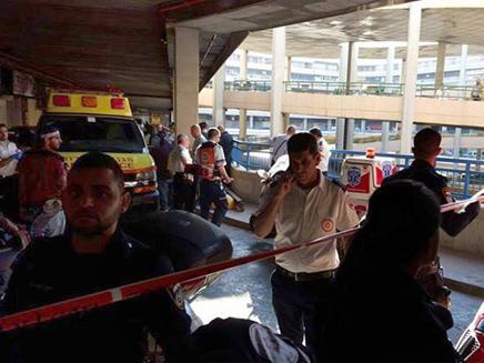 זירת הפיגוע בבניין פנורמה