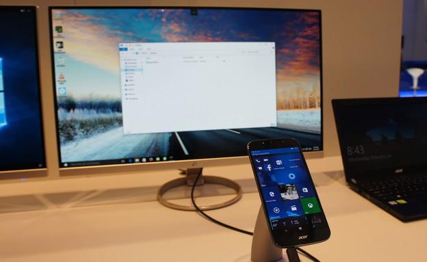 סמארטפון Acer Liquid Jade Primo וממשק Continuum (צילום: יאיר מור, ברצלונה, NEXTER)