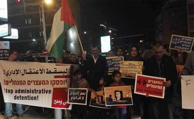 הפגנות למען שחרורו. ארכיון (צילום: חדשות 2)