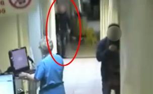 """צפו בתיעוד: גנב ארנק למאושפזת בביה""""ח (צילום: מצלמת אבטחה)"""